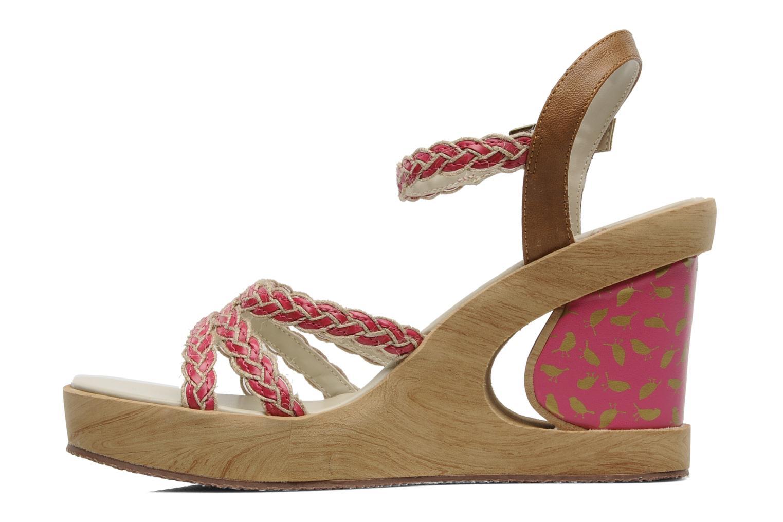 Sandales et nu-pieds Skechers Peek A Boo 38229 Rose vue face