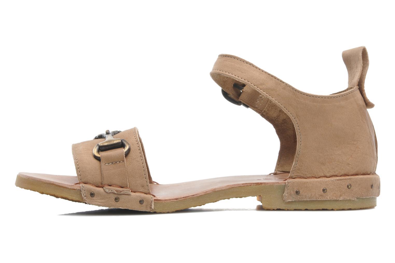Sandales et nu-pieds Dkode Amy Beige vue face