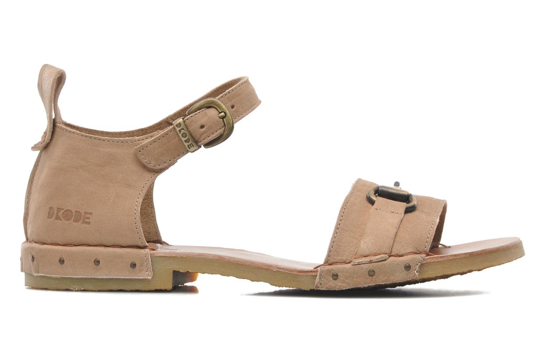 Sandales et nu-pieds Dkode Amy Beige vue derrière