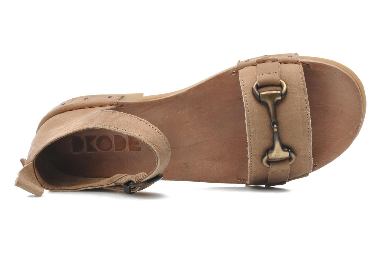 Sandales et nu-pieds Dkode Amy Beige vue gauche