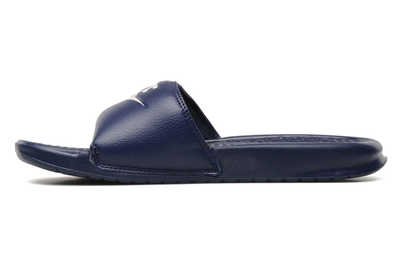 Sandaler Nike Benassi Jdi Blå se forfra