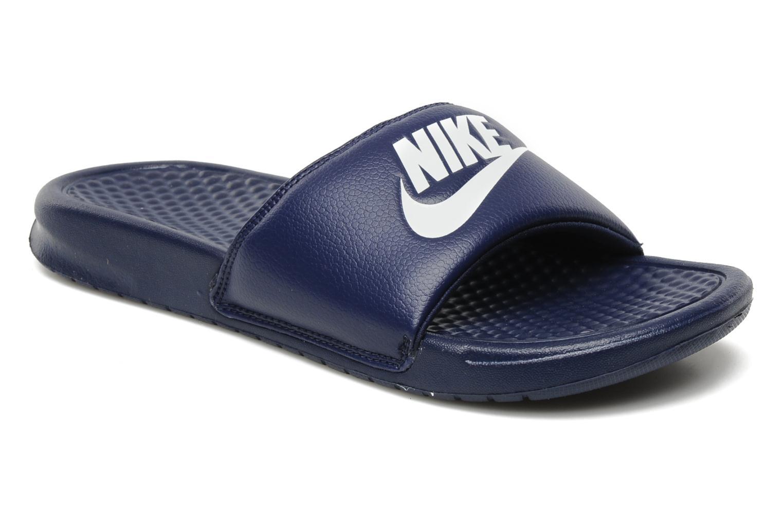 Sandaler Nike Benassi Jdi Blå detaljeret billede af skoene