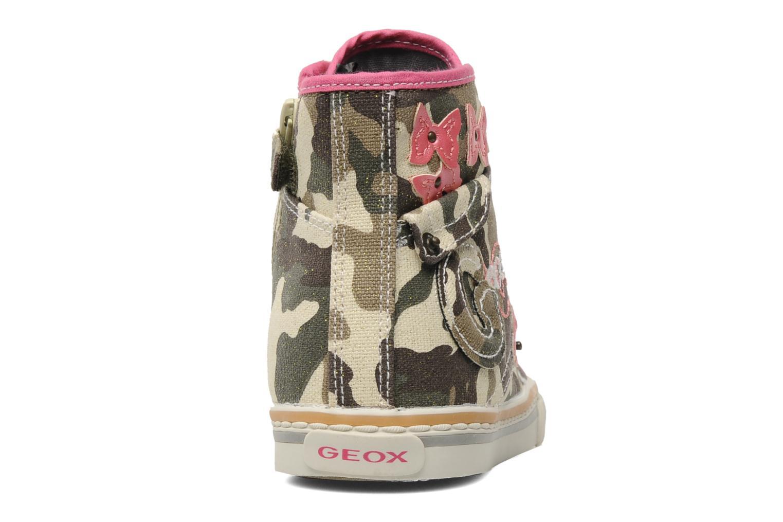 Sneaker Geox J CIAKGIRL P mehrfarbig ansicht von rechts