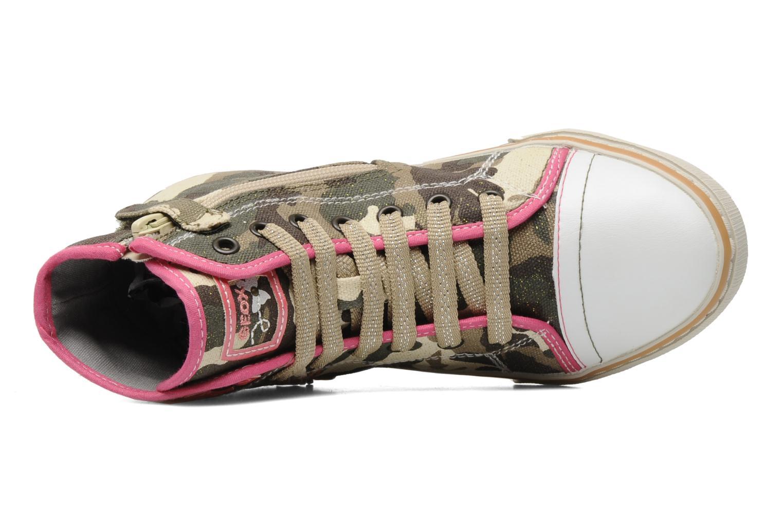Sneaker Geox J CIAKGIRL P mehrfarbig ansicht von links