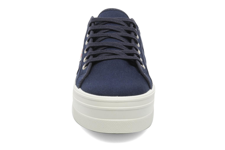 Baskets Victoria Blucher Lona Plataforma Bleu vue portées chaussures