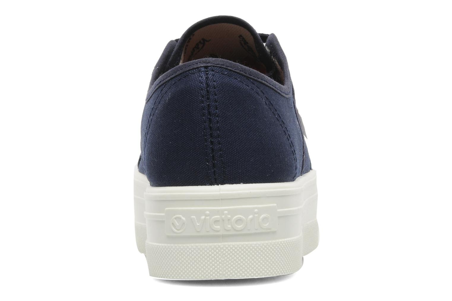 Trainers Victoria Blucher Lona Plataforma Blue view from the right