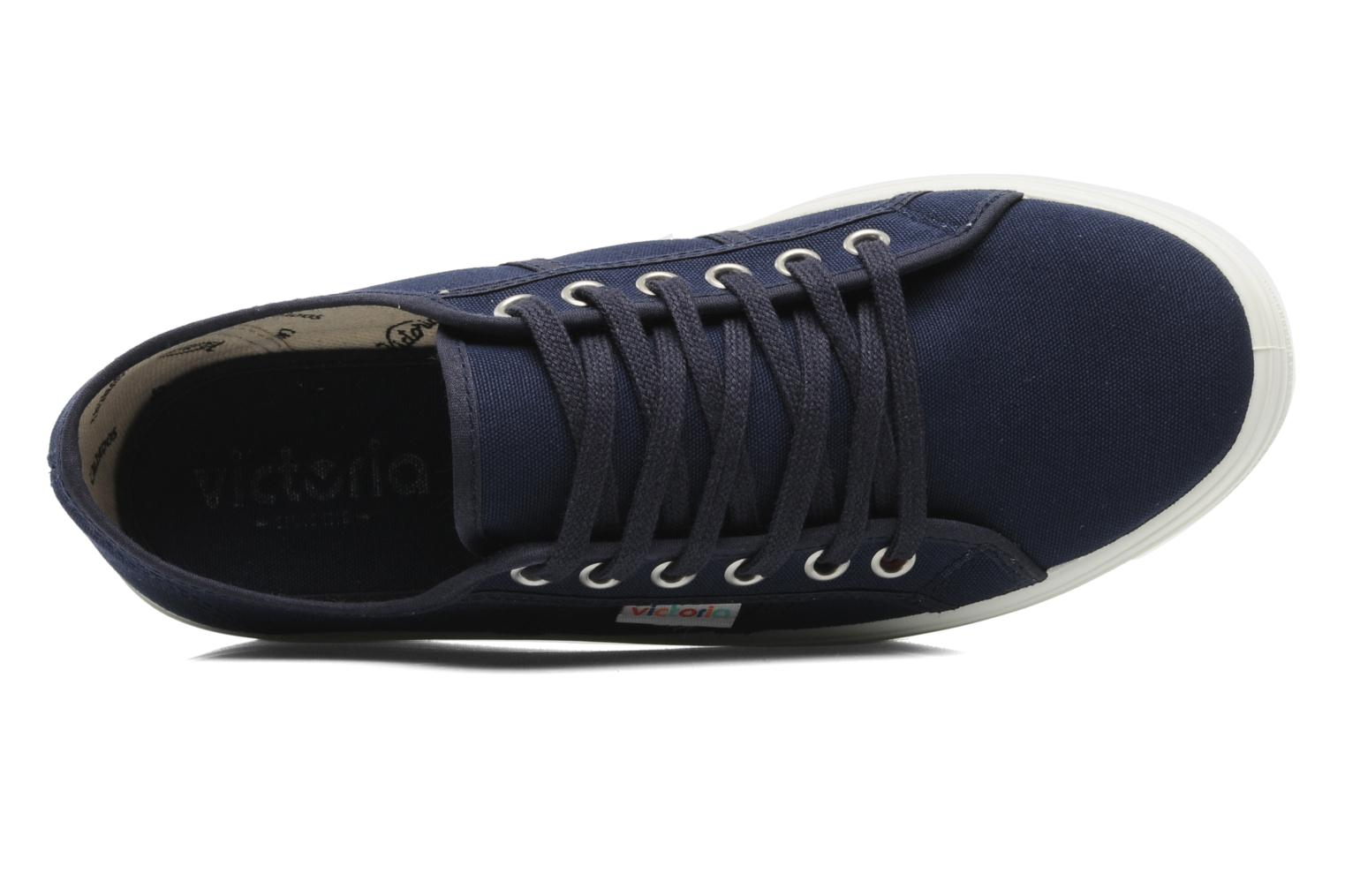 Trainers Victoria Blucher Lona Plataforma Blue view from the left