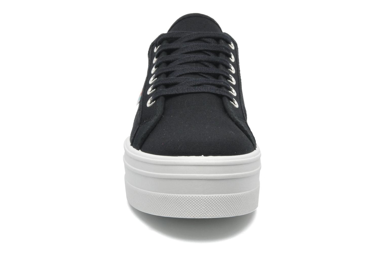Baskets Victoria Blucher Lona Plataforma Noir vue portées chaussures
