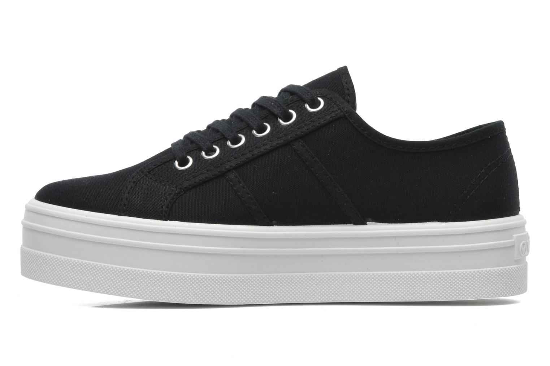 Sneaker Victoria Blucher Lona Plataforma schwarz ansicht von vorne