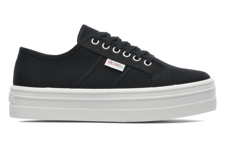 Sneaker Victoria Blucher Lona Plataforma schwarz ansicht von hinten