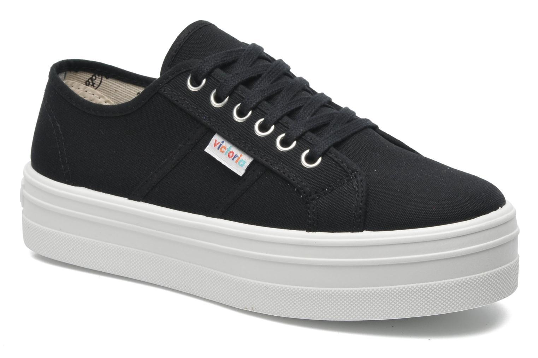 Grandes descuentos últimos zapatos Victoria Blucher Lona Plataforma (Negro) - Deportivas Descuento