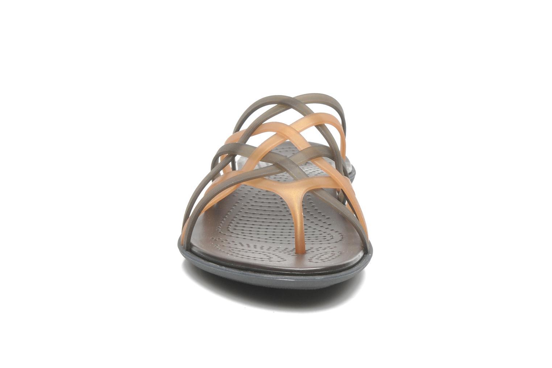 Mules et sabots Crocs Huarache Flip Flop Women Marron vue portées chaussures