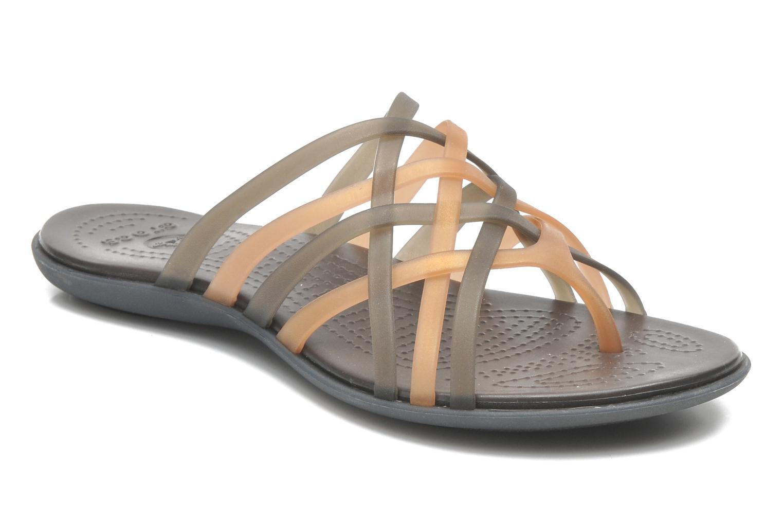 Mules et sabots Crocs Huarache Flip Flop Women Marron vue détail/paire