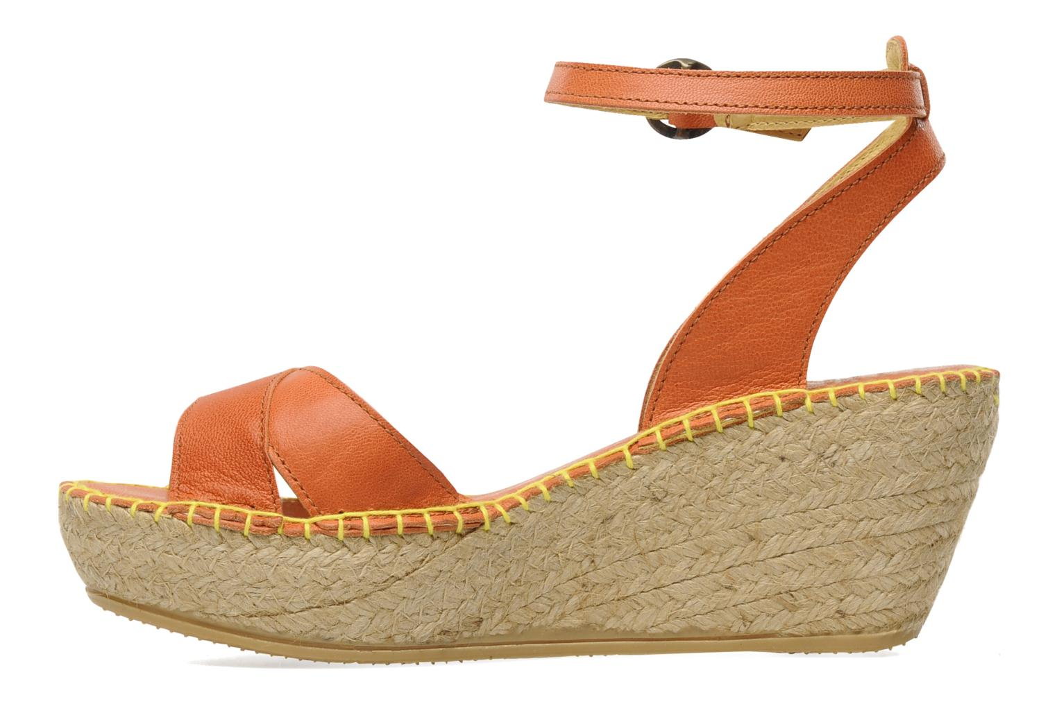 Sandals TBS Betyna Orange front view
