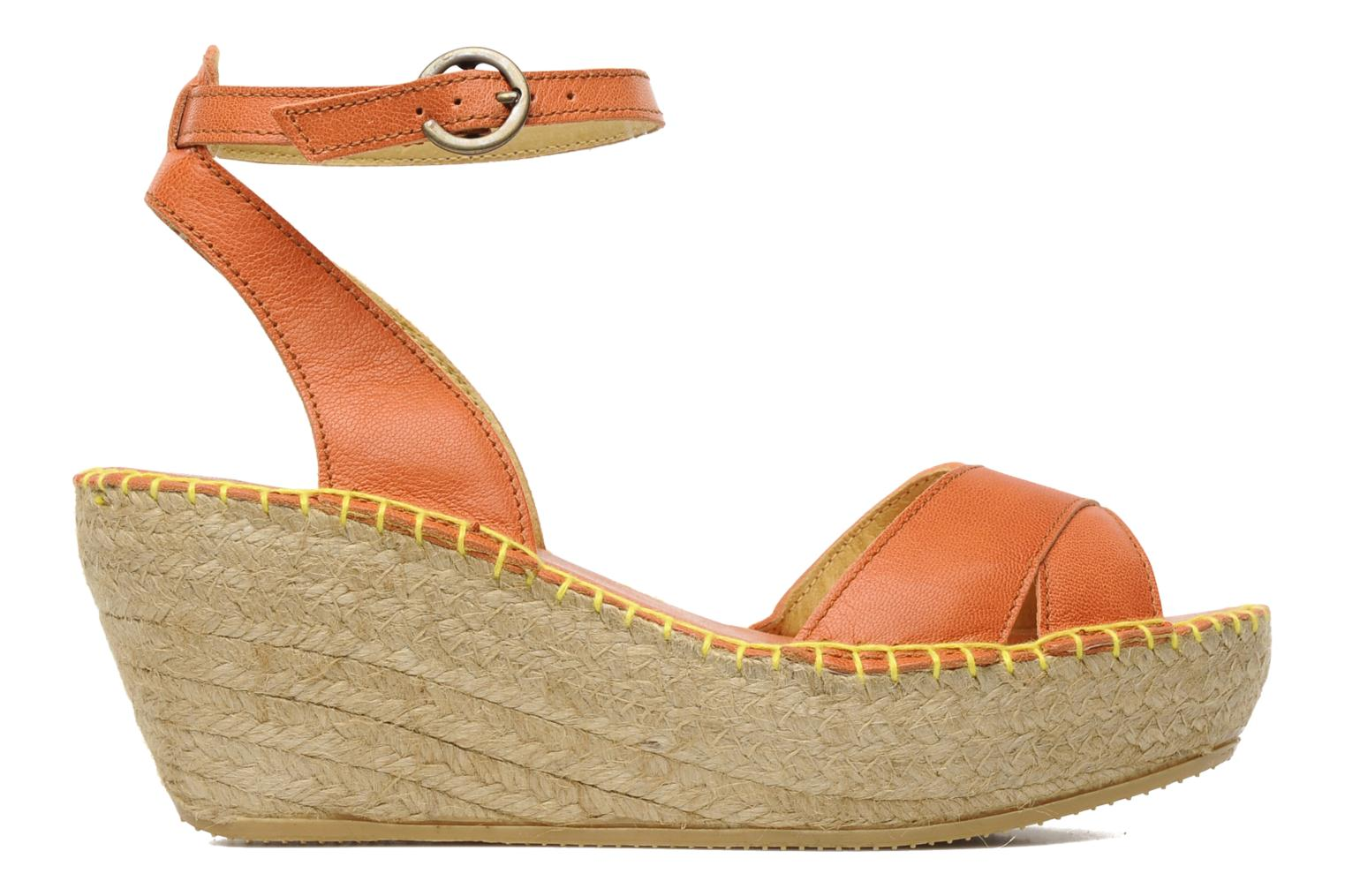 Sandals TBS Betyna Orange back view