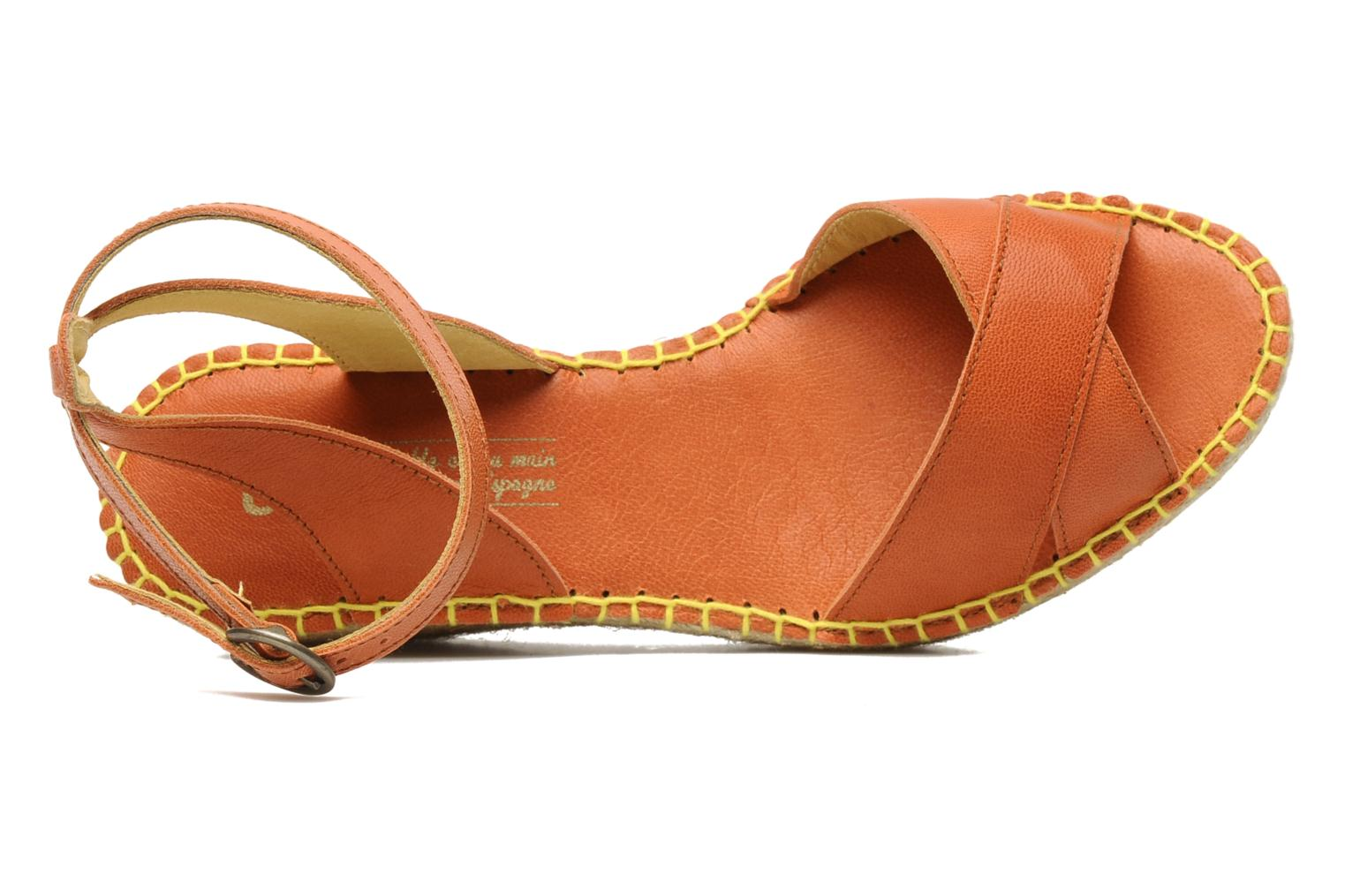 Sandals TBS Betyna Orange view from the left