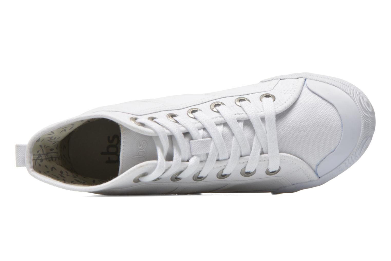 Trainers TBS Obelia White view from the left