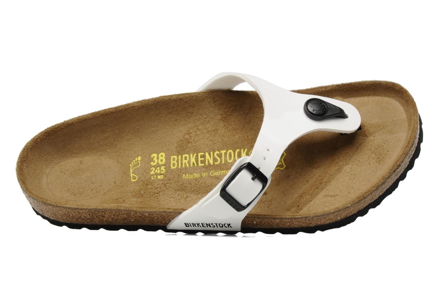 Flip flops Birkenstock Turin W White view from the left