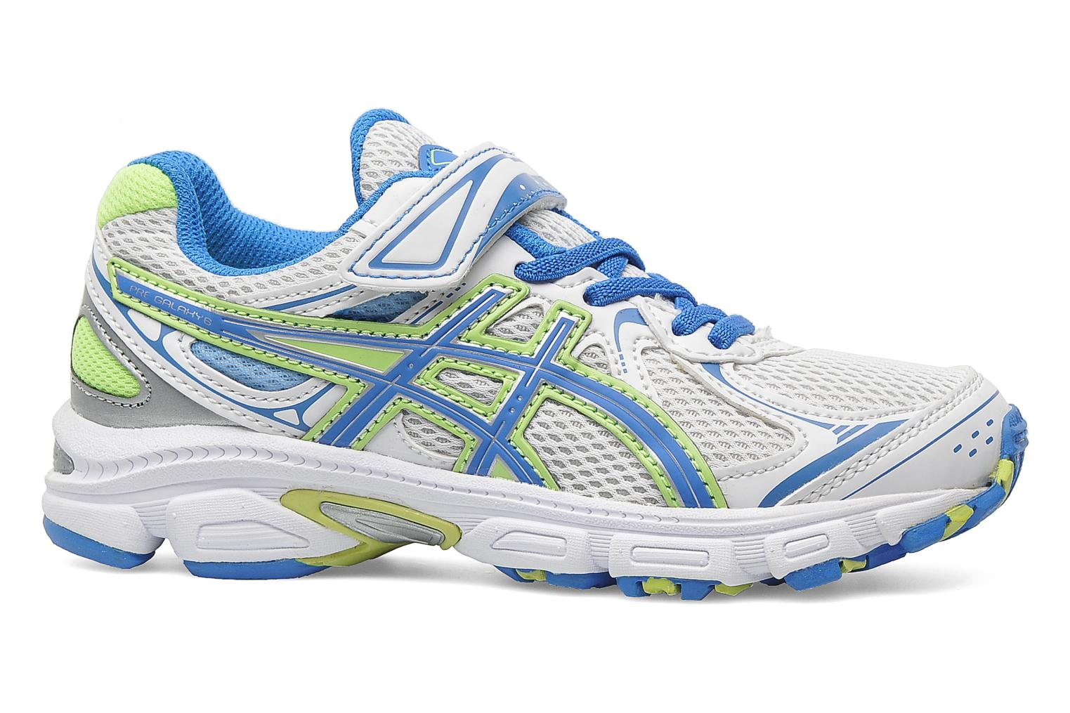 Sport shoes Asics Pre Galaxy 6 Ps White back view