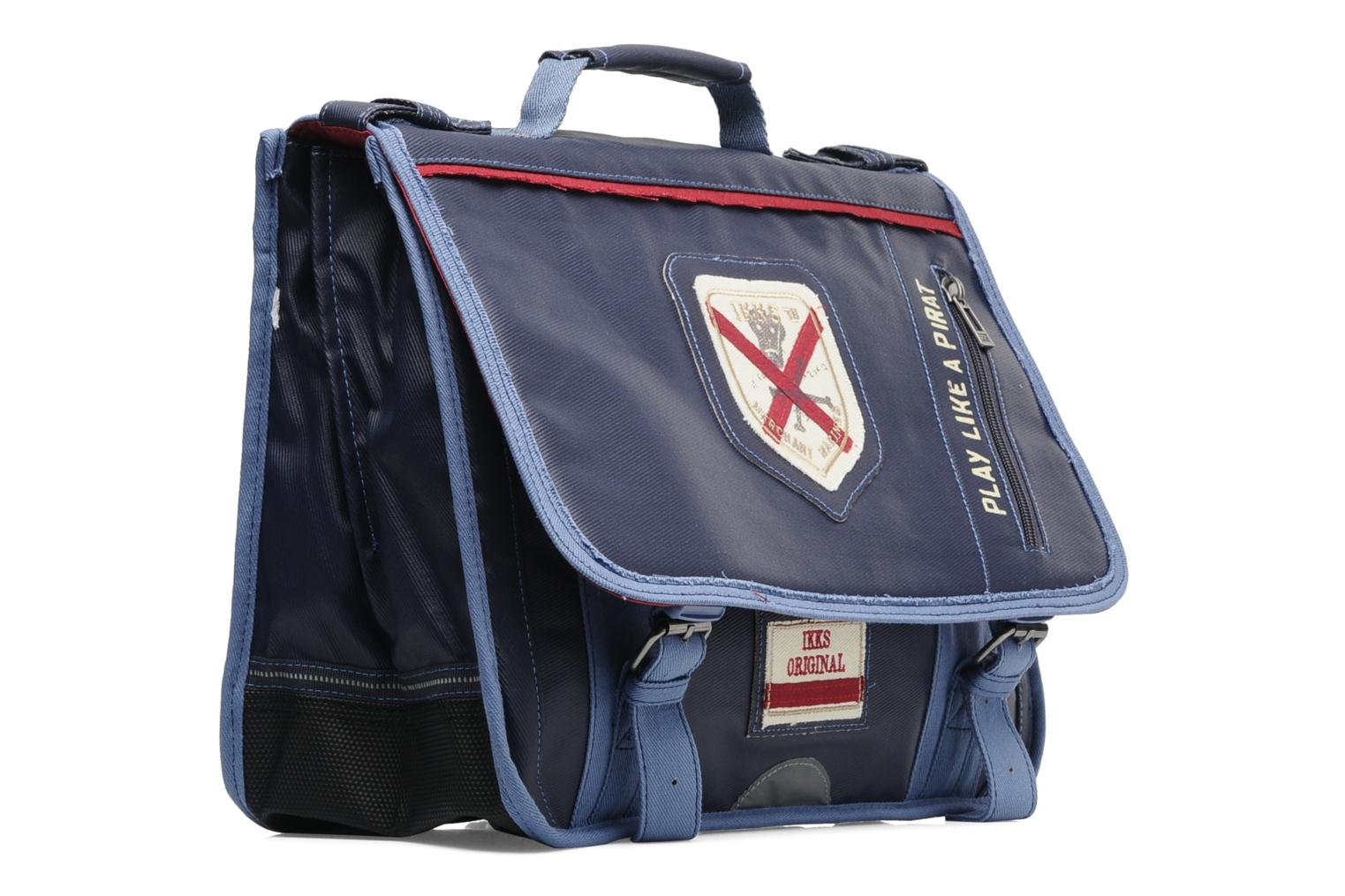 School bags Ikks Cartable 38 cm PIRAT Blue view from the right