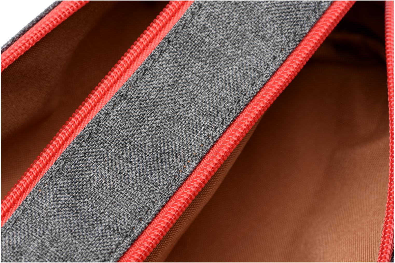 Trousse double CLASSIC Gris chiné/rouge