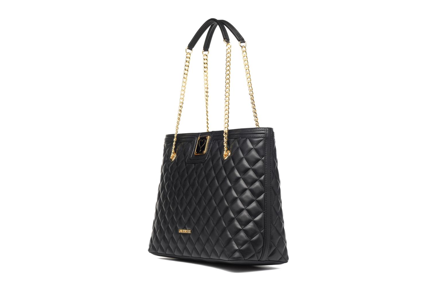 Super quilted Cabas Nero
