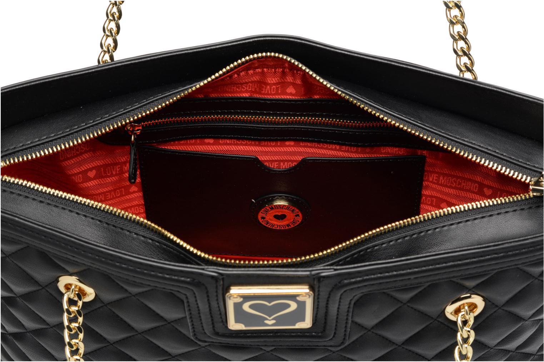 Handtassen Love Moschino Super quilted Cabas Zwart achterkant