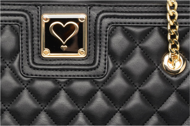 Handtassen Love Moschino Super quilted Cabas Zwart links
