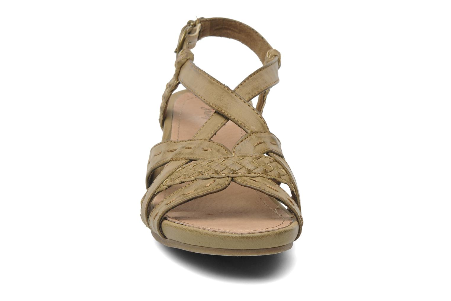 Sandals I Love Shoes Suzanita Brown model view