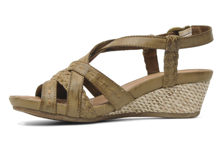 Sandales et nu-pieds I Love Shoes Suzanita Marron vue face