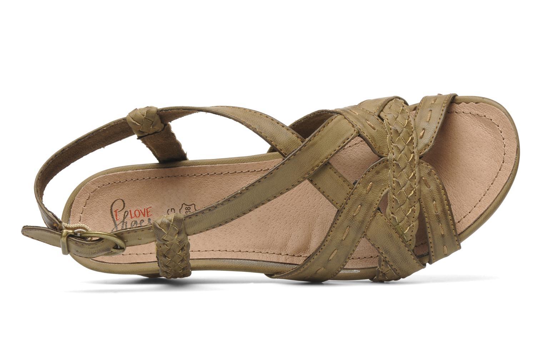 Sandalen I Love Shoes Suzanita braun ansicht von links