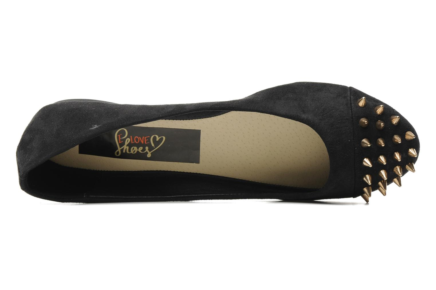 Ballerinas I Love Shoes Phoutch schwarz ansicht von links