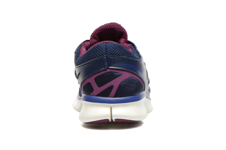Sportschuhe Nike Wmns Nike Free Run+ 2 Ext blau ansicht von rechts