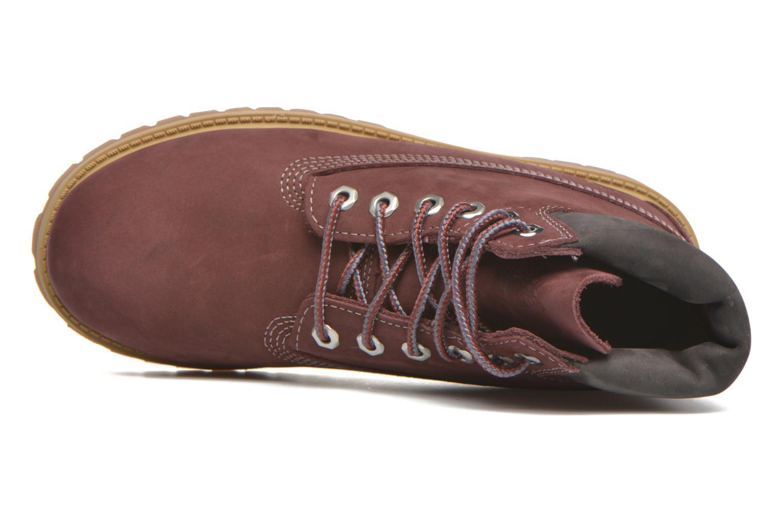 Boots en enkellaarsjes Timberland 6 In Premium WP Boot Bordeaux links