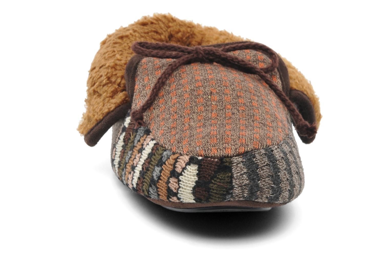 Hausschuhe Ruby Brown Patchwork mocassin M mehrfarbig schuhe getragen