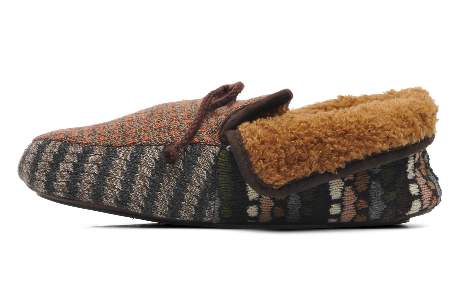 Chaussons Ruby Brown Patchwork mocassin M Multicolore vue face