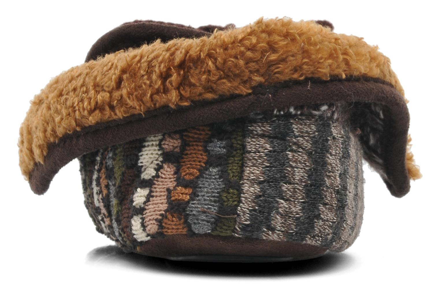 Chaussons Ruby Brown Patchwork mocassin M Multicolore vue droite