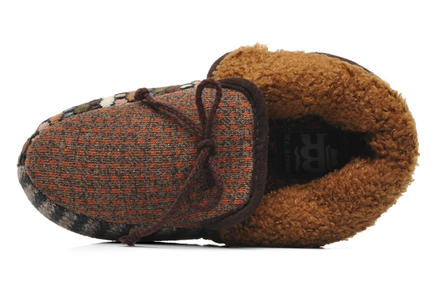 Chaussons Ruby Brown Patchwork mocassin M Multicolore vue gauche
