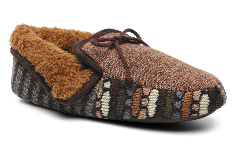 Pantoffels Ruby Brown Patchwork mocassin M Multicolor detail