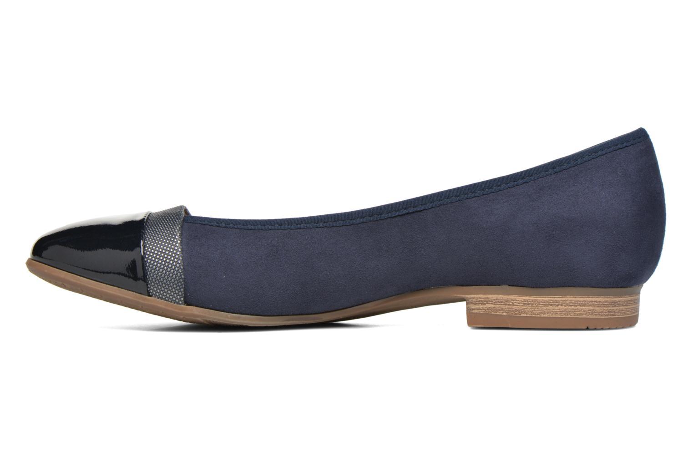 Ballet pumps Jana shoes Molia Blue front view