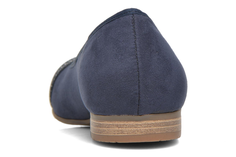 Ballerines Jana shoes Molia Bleu vue droite