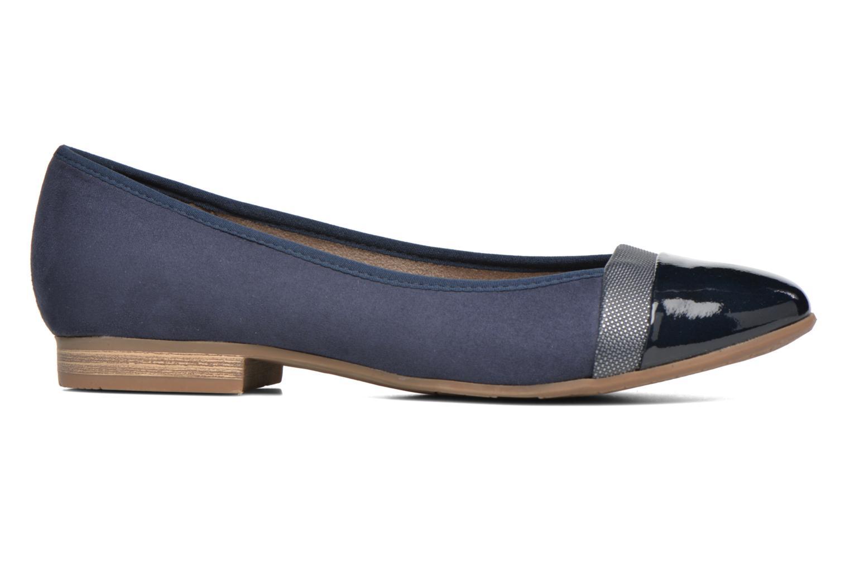 Ballet pumps Jana shoes Molia Blue back view
