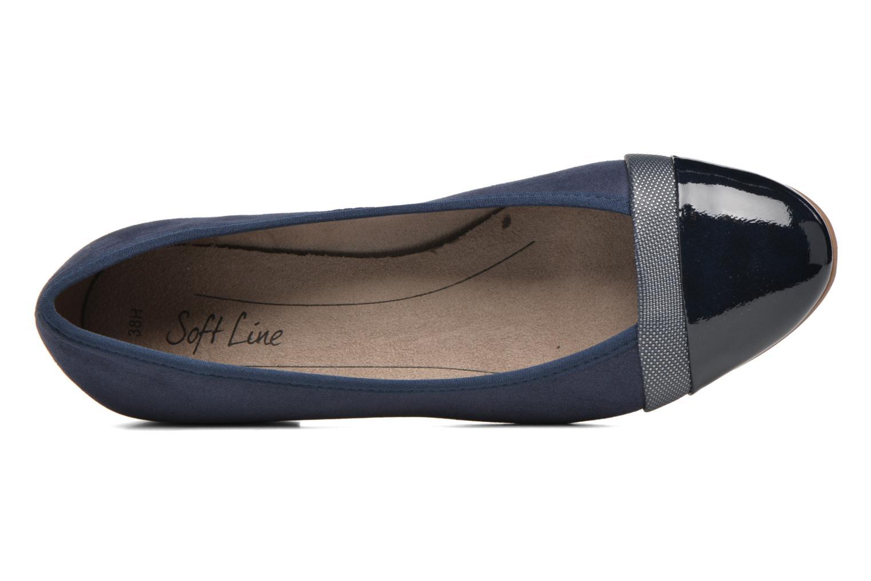 Bailarinas Jana shoes Molia Azul vista lateral izquierda