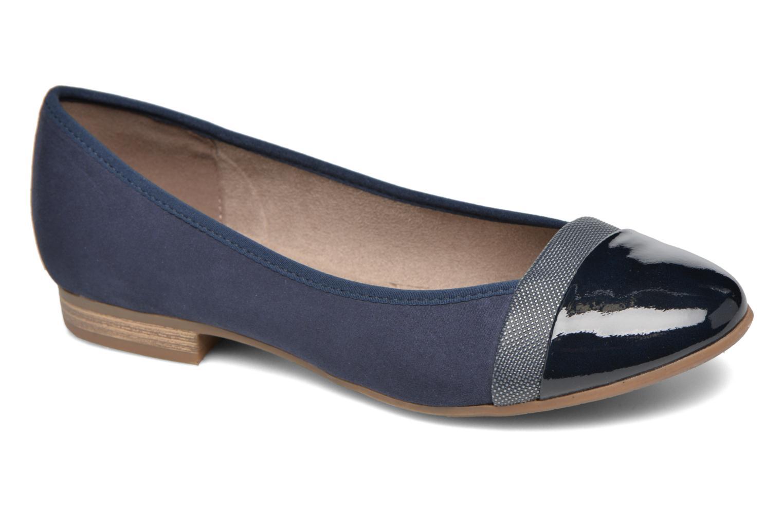 Ballerines Jana shoes Molia Bleu vue détail/paire