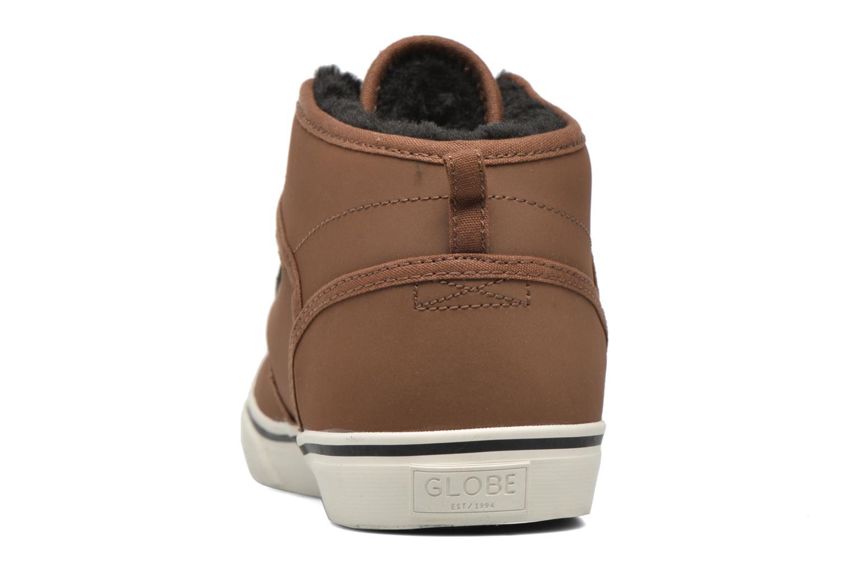 Chaussures de sport Globe MOTLEY MID FUR Marron vue droite