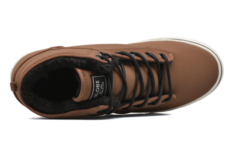 Chaussures de sport Globe MOTLEY MID FUR Marron vue gauche