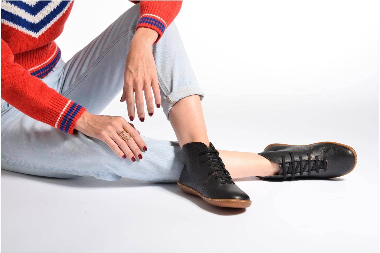 Chaussures à lacets El Naturalista Viajero N267 W Bordeaux vue bas / vue portée sac
