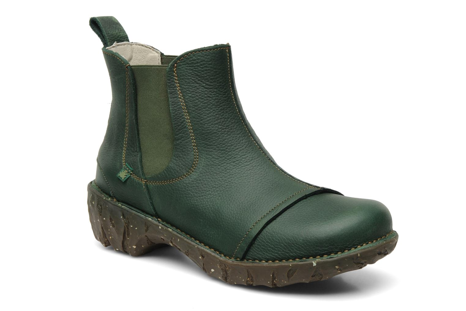 Ankle boots El Naturalista Iggdrasil N158 Green detailed view/ Pair view