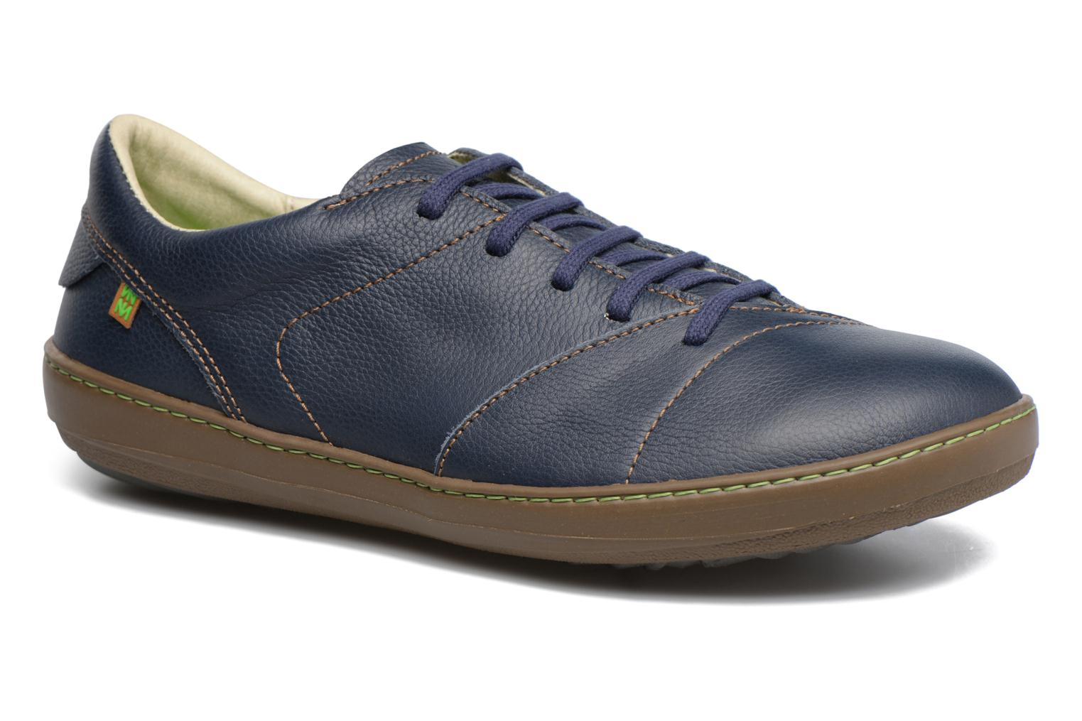 Lace-up shoes El Naturalista Meteo N211 Blue detailed view/ Pair view