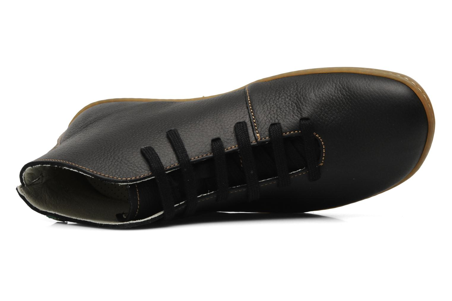 Lace-up shoes El Naturalista Viajero N267 M Black view from the left